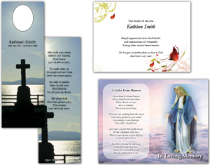 Memorial cards sample, Printchain north Dublin printing services